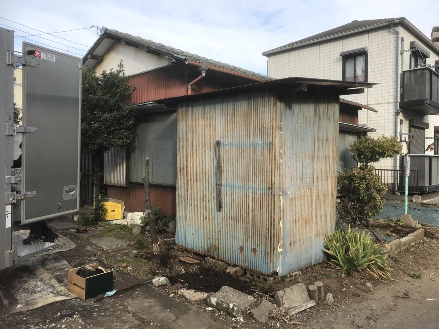 埼玉県朝霞市の家の片付け、庭の片付け
